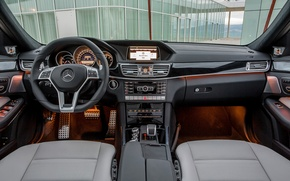 Wallpaper Mercedes-Benz, AMG, E 63, interior
