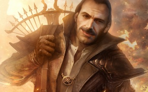 Picture smile, fire, ring, male, Diablo III, crossbow, TamplierPainter, Fan Art, Lyndon