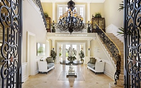 Picture california, home, luxury, stairs, santa fe, villy