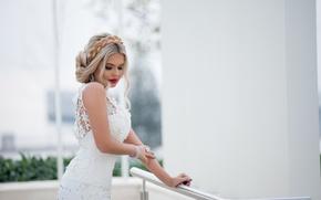 Picture girl, decoration, face, makeup, dress, the bride