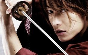 Picture sword, game, anime, katana, man, face, assassin, asian, film, manga, japanese, kimono, oriental, asiatic, live ...