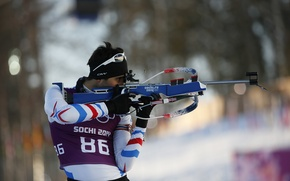 Picture France, biathlon, Sochi 2014, The XXII Winter Olympic Games, Martin Fourcade
