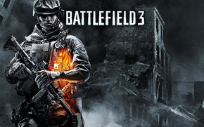 Picture weapons, soldiers, Battlefield 3, video game