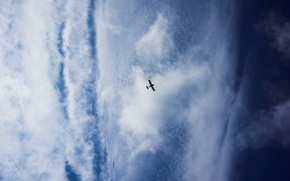 Wallpaper the sky, glider, clouds