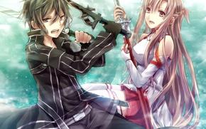 Picture anime, art, Sword art online, Sword Art Online, Kirito