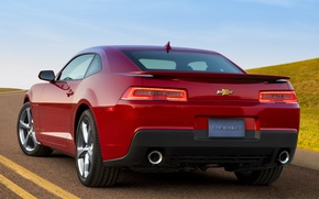 Picture car, Chevrolet, Camaro, red, sportcar, 2013