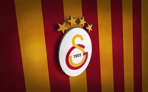 Picture wallpaper, sport, football, Turkey, Galatasaray, 3D logo, SuperLig