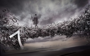 Wallpaper abstraction, mood, strange