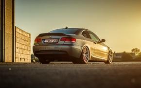 Picture BMW, silver, wheels, E92, rearside