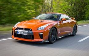 Wallpaper road, speed, Nissan, GT-R, car, Nissan