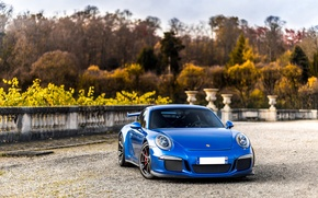 Picture 911, Porsche, Blue, GT3