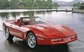 Picture red, Corvette, Chevrolet, auto, walls, Corvette, Convertible