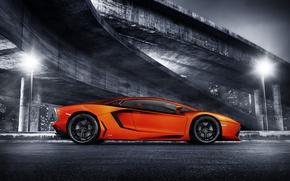 Picture overpass, supercar, lp700-4, Lamborghini, rechange, lamborghini aventador