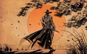 Picture the sun, sword, samurai, red steel 2