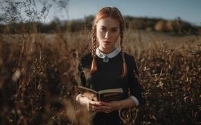 Picture autumn, book, braids, George Chernyadev, Leroy Nelson