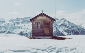 Picture cabin, isolated, mountain refuge