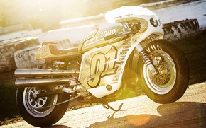 Picture moto, custom, Harley-Davidson, sportbike, 1991, Sportster, v-twin, icon 1000, 91', Iron Lung