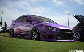 Picture mitsubishi, japan, jdm, tuning, lancer, evolution, evo, power, speed, low, stance