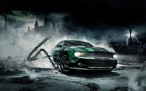 Wallpaper Shelby, Mustang, chain, Mustang, Ford