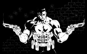 Picture weapons, skull, The Punisher, Punicher