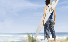 Wallpaper Surfer, figure, vector