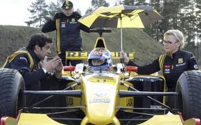 Picture umbrella, people, Wallpaper, sport, umbrella, helmet, formula 1, the car, renault, Reno, formula1, Vladimir Putin, …