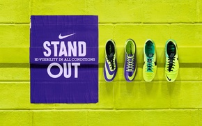 Picture road, style, mark, Nike, neon, right, lighten, fixing, runnig