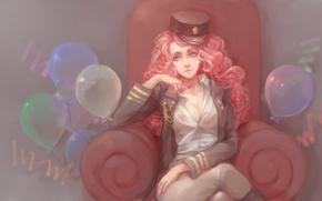 Wallpaper girl, balls, hat, anime, art, my little pony, friendship is magic, sadsan, pinki pie