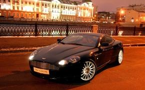 Picture the city, lights, Vantage, Aston, Martin, supercar, DB9