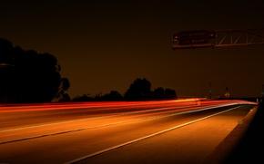 Picture Lights, Night, Autobahn