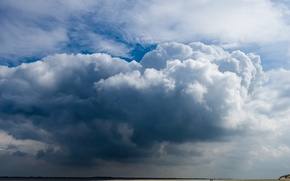 Picture the sky, clouds, clouds, nature, background, widescreen, Wallpaper, horizon, wallpaper, sky, nature, widescreen, background, clouds, …