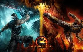 Picture Scorpion, mortal kombat, Sub-Zero