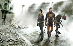 Picture Gordon Freeman, Alyx Vance, Citadel (anticitizen one), Half-life 2