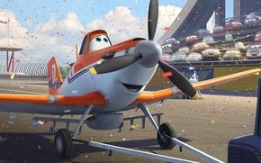 Wallpaper machine, cartoon, wings, adventure, rally, wings, tribune, Walt Disney, animation, action, Walt Disney, adventure, triumph, ...
