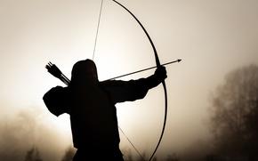 Wallpaper background, bow, arrows, Archer