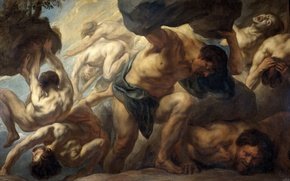 Picture picture, mythology, Jacob Jordaens, Fall Of Giants