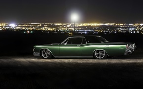 Picture car, night, lincoln continental