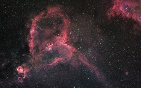 Picture space, heart, Nebula, space