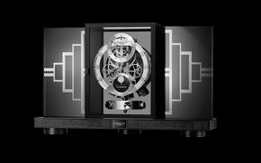 Picture metal, design, art deco clock