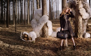 Picture forest, monster, Lindsey Wixson