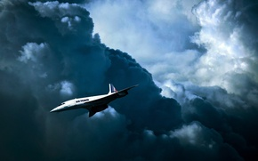 Picture Air France, Concorde, Concord, Aerospatiale-BAC, the British-French supersonic passenger plane