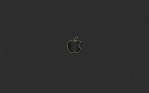 Picture gold, black, apple, logo, mac