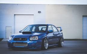 Picture Subaru, blue, blue, wrx, impreza, Subaru, sti, Impreza