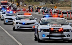 Picture police, Chevrolet, red, police, blue, flashers