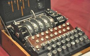 Picture machine, military, German, Enigma, encryption, naval, four