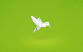Wallpaper paper, bird, minimalism, Hummingbird, origami