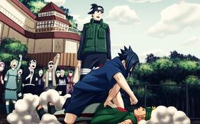 Wallpaper art, Anime, Naruto, Naruto, Uchiha Sasuke, Uchiha Sasuke, Uzumaki Naruto, Uzumaki Naruto, Academy