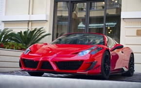 Picture red, tuning, Ferrari, supercar, Red, Ferrari, 458, Carbon, Monaco, Black, Mansory, Italia, Italia