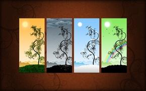 Wallpaper vector, picture, seasons