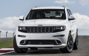 Picture car, jeep, front, SRT, Jeep, Grand Cherokee, powerful